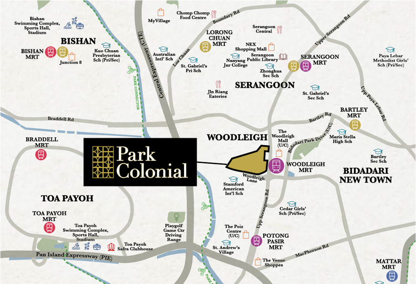 Park Colonial Location
