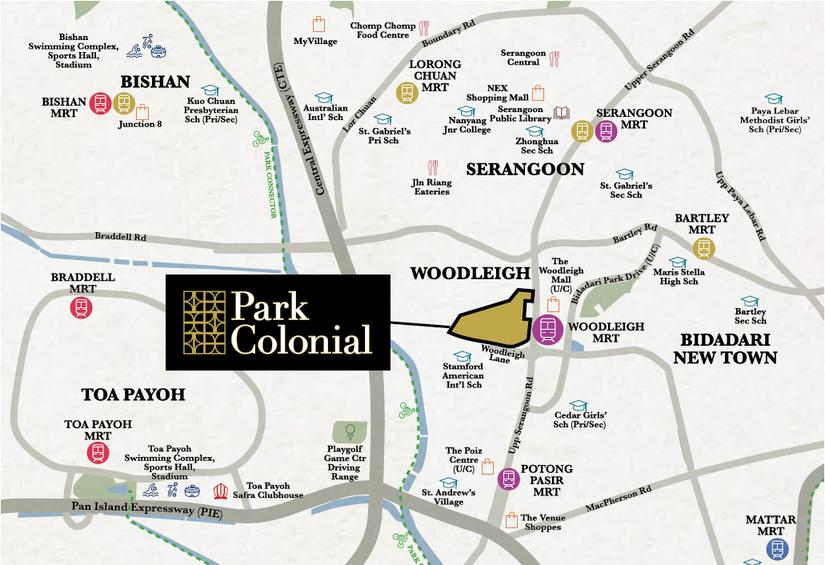 Park Colonial Location