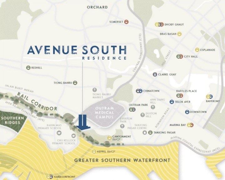 South Avenue Residence Location and Site Plan