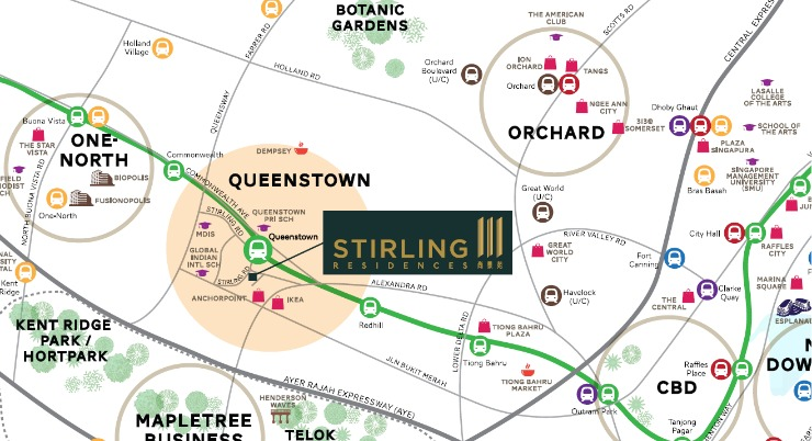 Stirling Residences Location in Singapore