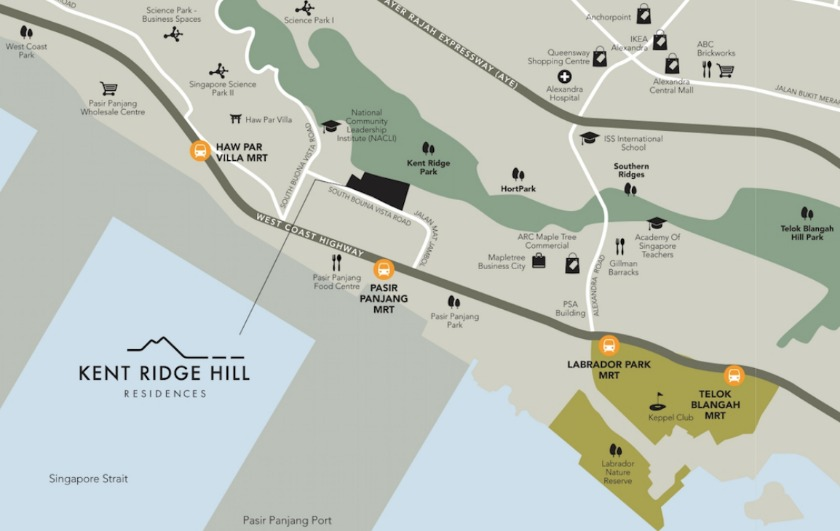 Kent Ridge Hill Residences Location Map - Contact us for more info on its floor plan and showflat