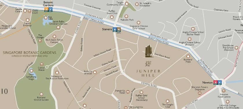 Juniper Hill Location Map