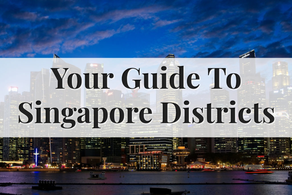 Singapore Map With District - Feature Image