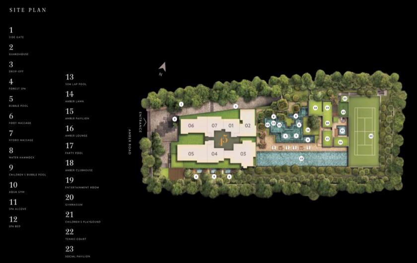 Site Plan for New Amber Road Residence