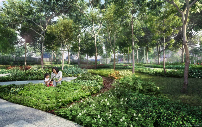 Garden Area at New Launch Condo in Serangoon North View 554343