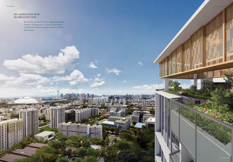 High-Rise Views at New Sims Drive Residence