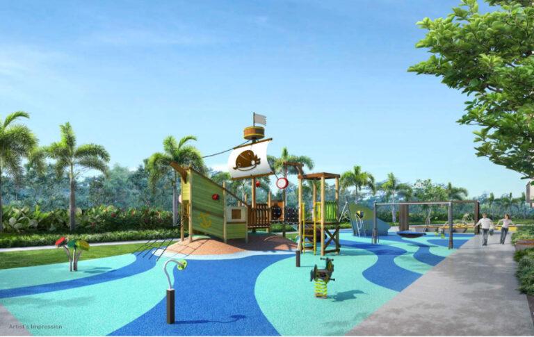 Condominium with Children's Playground