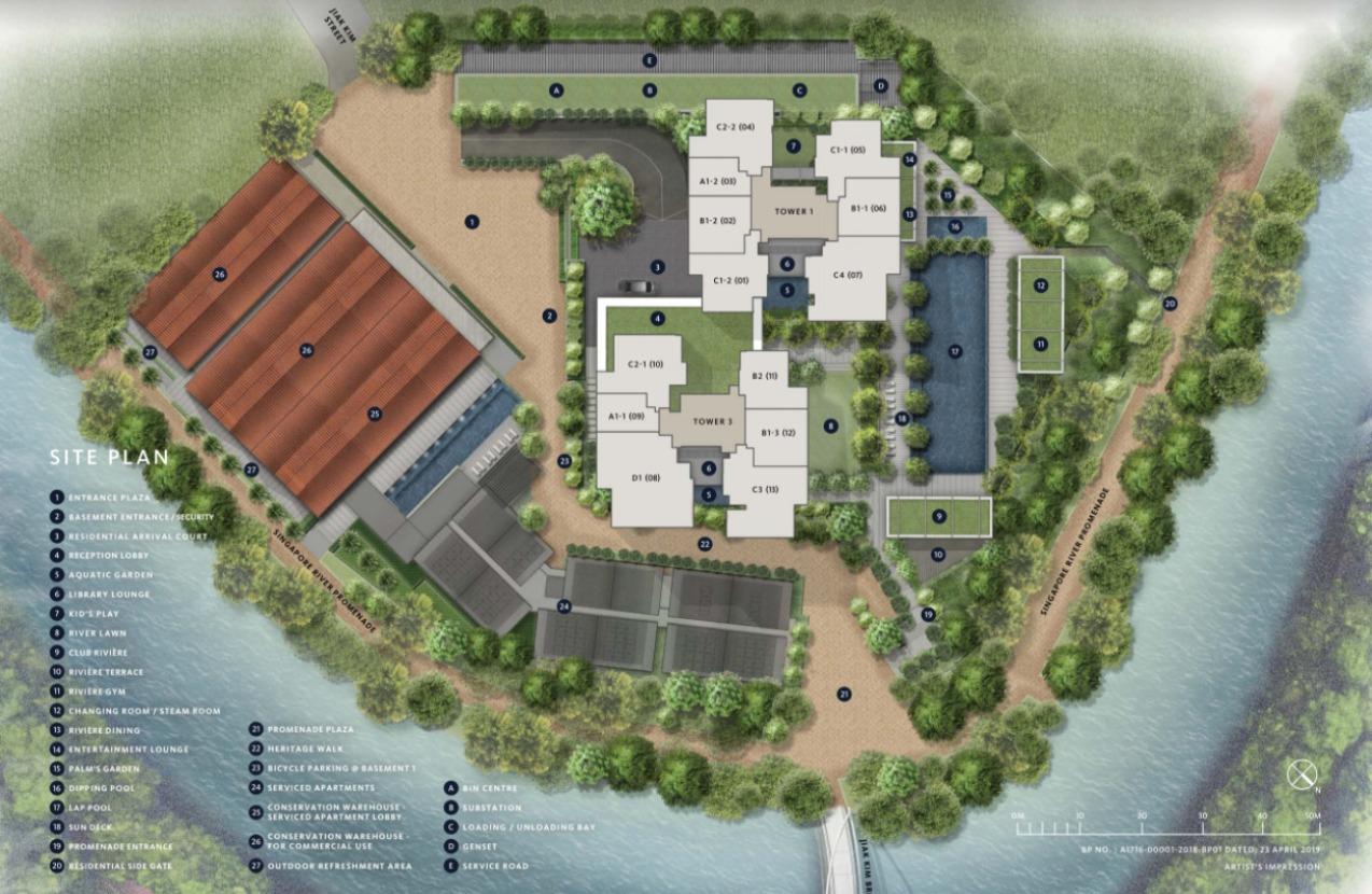 Project Name Rivière & Site Plan
