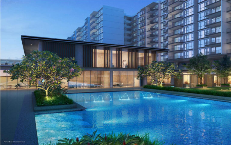 Balcony Space for the Treasure at Tampines Homeowners