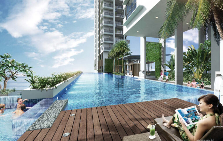 New Condominium with Water Features at Pool Area