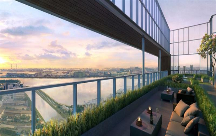 City View Offered at Twin Vew Condos Roofdeck Area