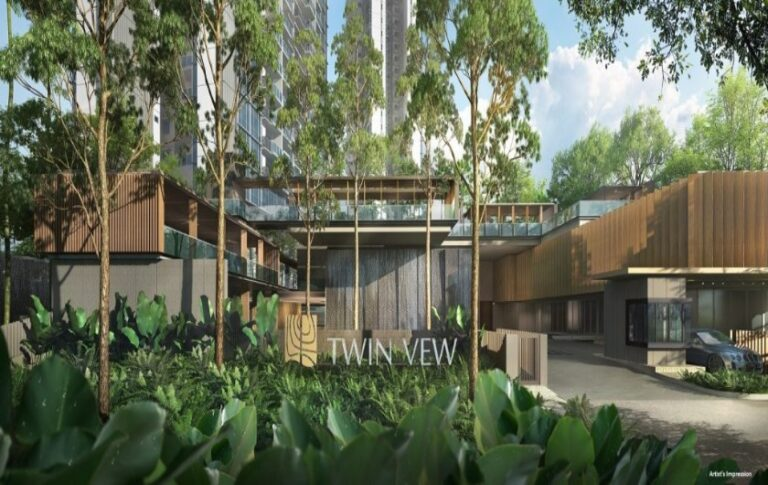 Twin Vew Condo Entrance with Botanic Inspiration