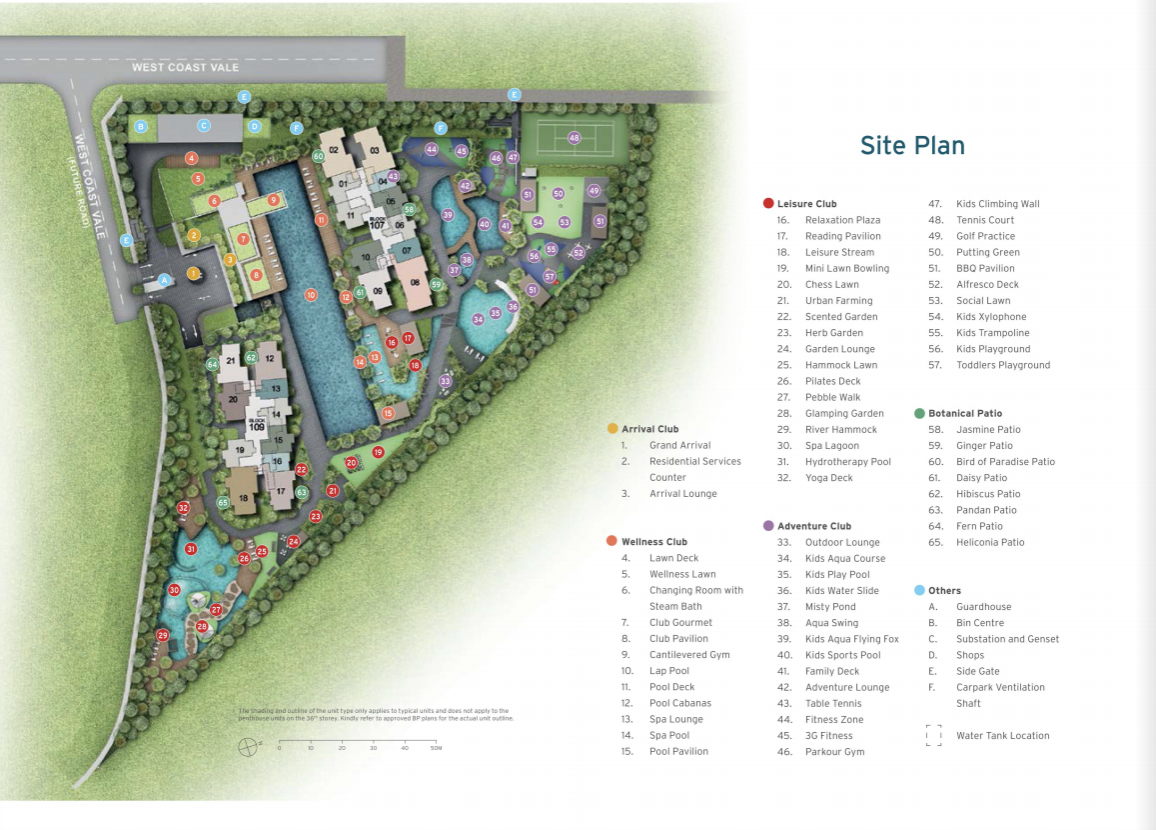 Luxury Condo Site Plan in West Coast Vale