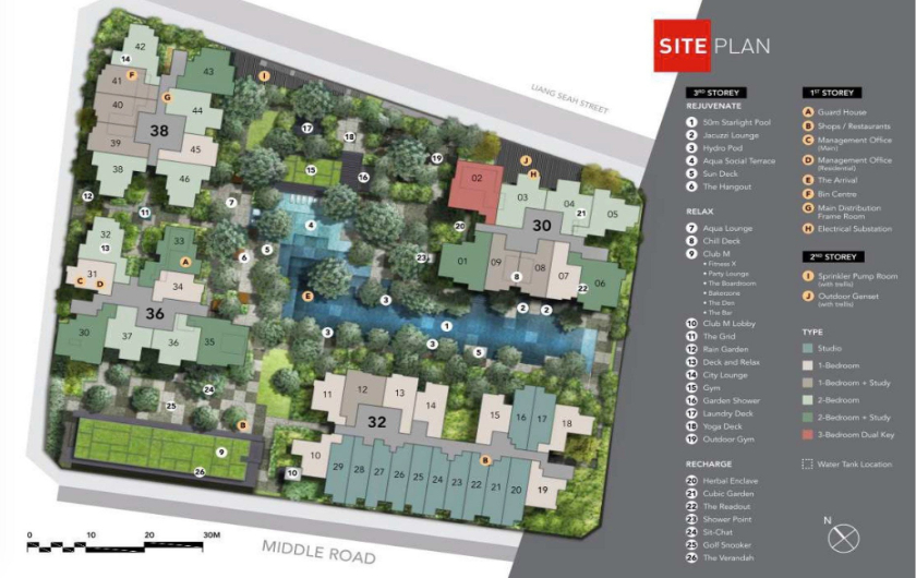 Wide Site Plan for The Wingtai Development